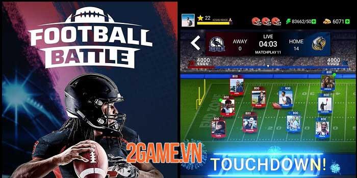 Football Battle - Touchdown: Game thẻ bài bóng đá thể hiện logic và tính đồng đội 0