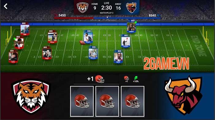 Football Battle - Touchdown: Game thẻ bài bóng đá thể hiện logic và tính đồng đội 1