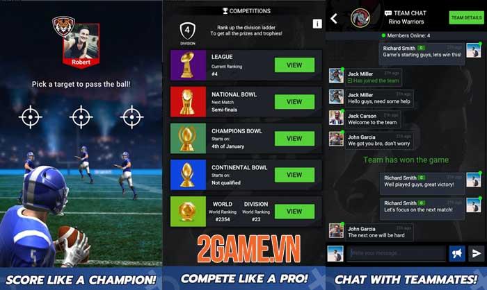 Football Battle - Touchdown: Game thẻ bài bóng đá thể hiện logic và tính đồng đội 2