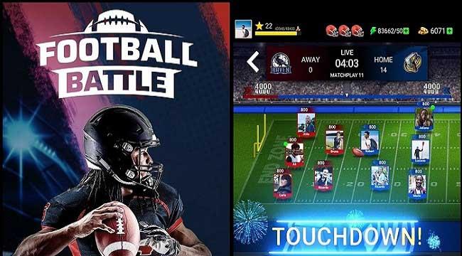 Football Battle – Touchdown: Game thẻ bài bóng đá thể hiện logic và tính đồng đội