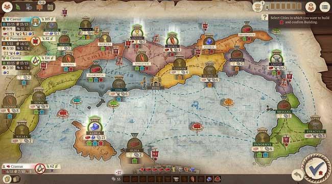 Concordia: Digital Edition – Phiên bản chuyển thể của boardgame chiến thuật nổi tiếng