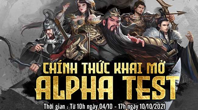 Game SLG Chiến Vương Tam Quốc mở cửa Alpha Test đón game thủ Việt hôm nay