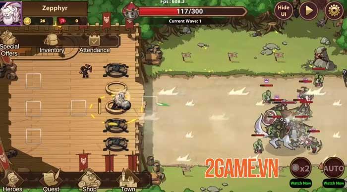 Rise of Warrior Defender - Game chiến thuật thủ tháp với dàn nhân vật phong phú 1