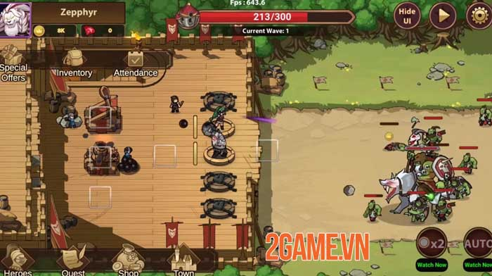 Rise of Warrior Defender - Game chiến thuật thủ tháp với dàn nhân vật phong phú 2