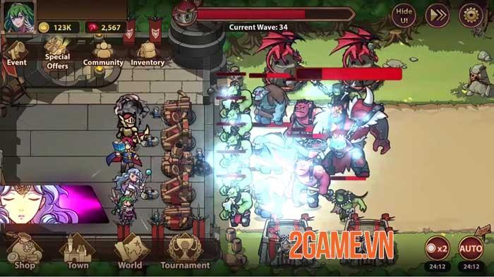 Rise of Warrior Defender - Game chiến thuật thủ tháp với dàn nhân vật phong phú 4