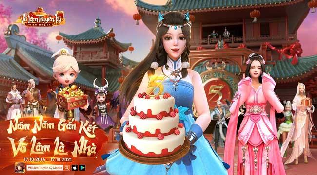 Chúc mừng sinh nhật 5 tuổi Võ Lâm Truyền Kỳ Mobile