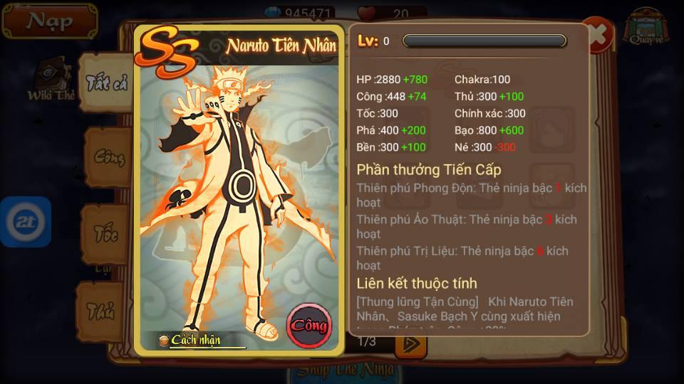 Hokage Mobile – Tìm hiểu hệ thống thẻ ninja