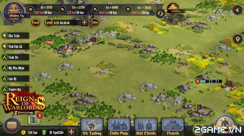 Reign of Warlords – Tìm hiểu cách chiếm mỏ khoáng hiệu quả
