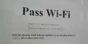 Chủ quán dùng hẳn Toán học để thách thức kẻ trộm pass wifi