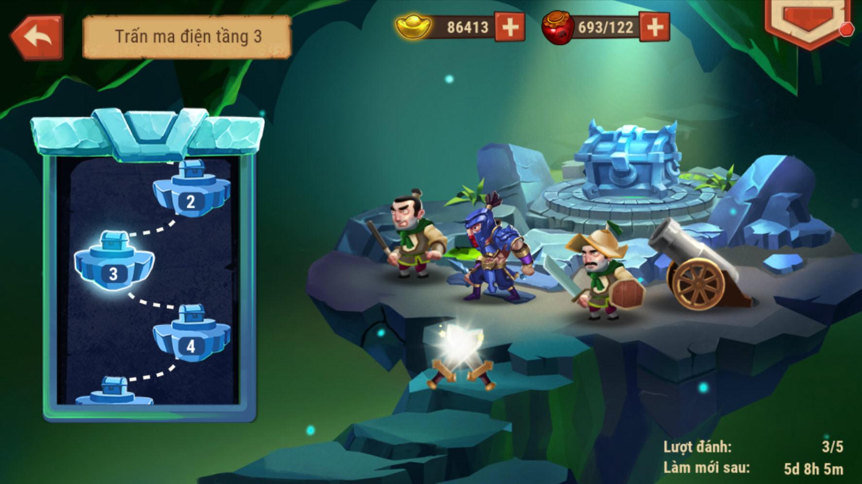 Anh hùng Võ Tòng đả hổ được khắc họa oai phong trong game Hảo Hán Ca Mobile 6
