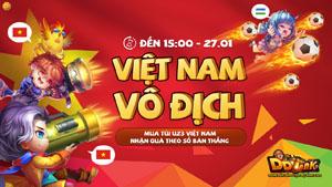 Garena DDTank bất ngờ tung sự kiện độc nhất để cổ vũ cho U23 Việt Nam vô địch