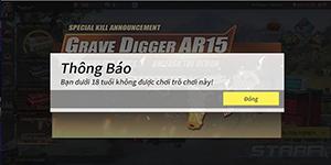 Giờ là phải trên 18 tuổi mới chơi được Rules of Survival PC tại Việt Nam
