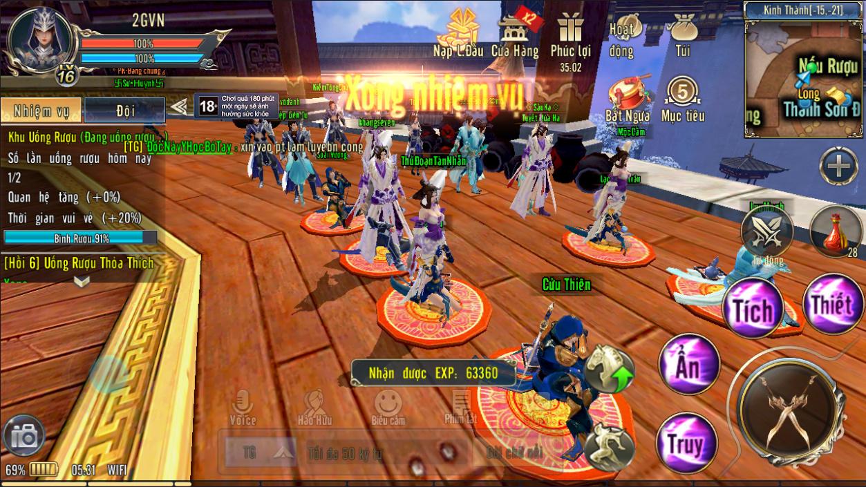 360mobi Kiếm Khách VNG trở nên đông đúc hơn hẳn khi bước vào phiên bản chính thức