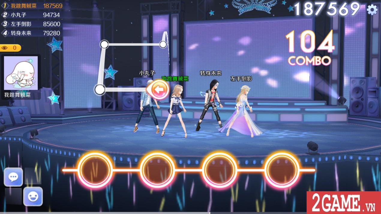 Zing Dance Mobile kế thừa và phát triển nhiều tính năng lôi cuốn từ bản PC 8