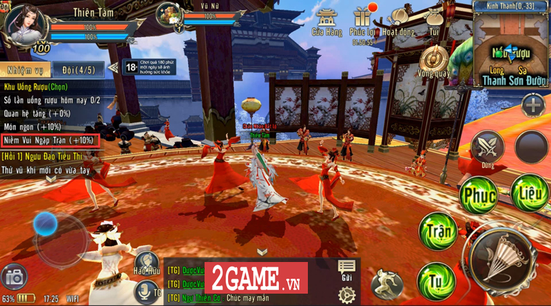 360mobi Kiếm Khách VNG ra mắt tính năng Công thành chiến 200 vs 200 hoành tráng 2