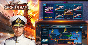 Đại Chiến Hạm 3D mang đến hàng tá hoạt động để người chơi cày nguyên liệu nâng cấp tàu chiến