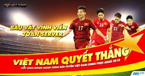 Có bản quyền Asiad, VTC Game nhuộm đỏ server mừng chiến thắng của đội tuyển Việt Nam