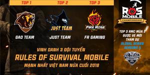 Rules of Survival Mobile khởi tranh giải đấu quốc tế Global Series cuối tuần này