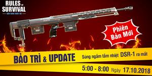 Rules of Survival Mobile ra mắt vũ khí mới DSR-1 trong bản Big Update 17/10