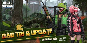 Súng rocket RPG và Rifle ACR xuất hiện tại bản đồ 120 người của Rules Of Survival