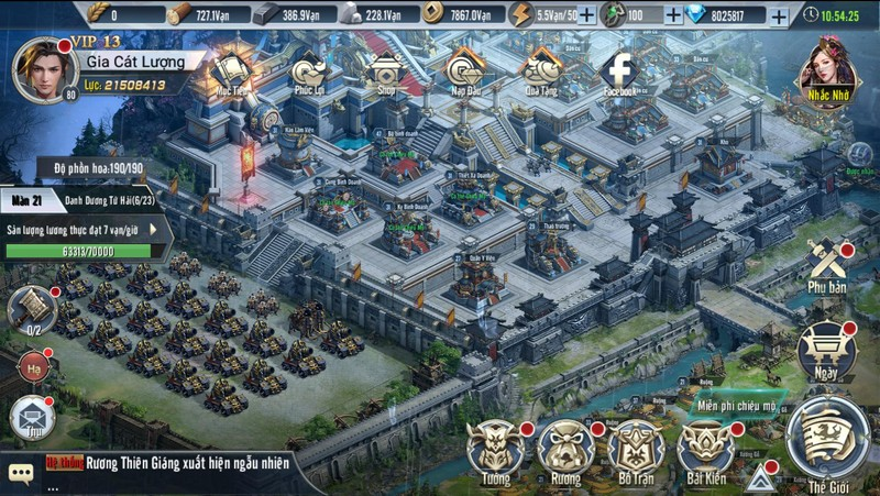 Thỏa sức phô diễn tài dụng binh trong game Tam Quốc Vương Giả Mobile 1