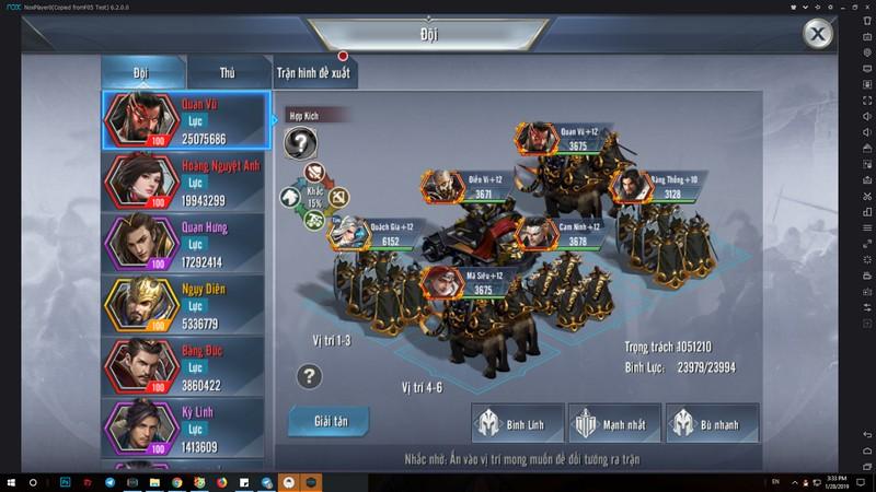 Thỏa sức phô diễn tài dụng binh trong game Tam Quốc Vương Giả Mobile 2