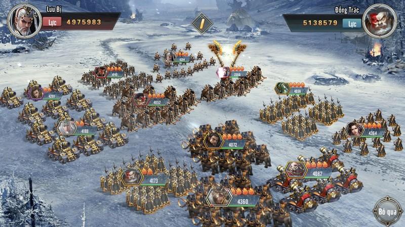 Thỏa sức phô diễn tài dụng binh trong game Tam Quốc Vương Giả Mobile 4