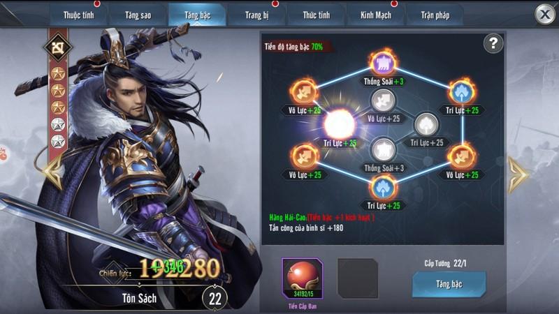 Thỏa sức phô diễn tài dụng binh trong game Tam Quốc Vương Giả Mobile 3