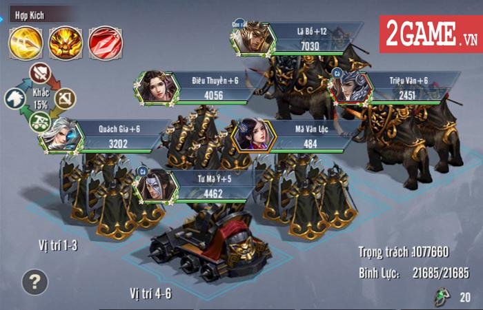 Bày binh bố trận luôn là món ăn chính trong Tam Quốc Vương Giả Mobile 2