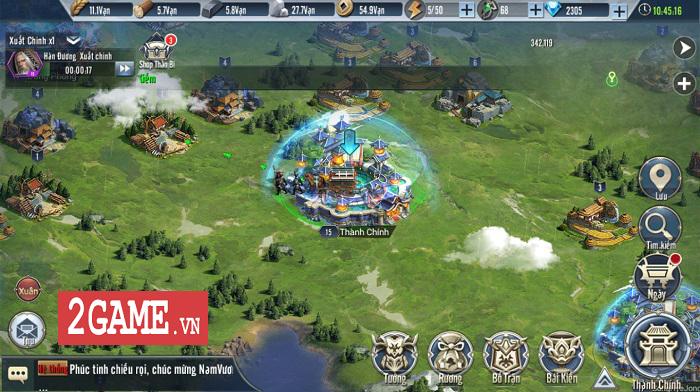 Game thủ Tam Quốc Vương Giả đắm chìm trong chuỗi nhiệm vụ xây thành, điều binh 0