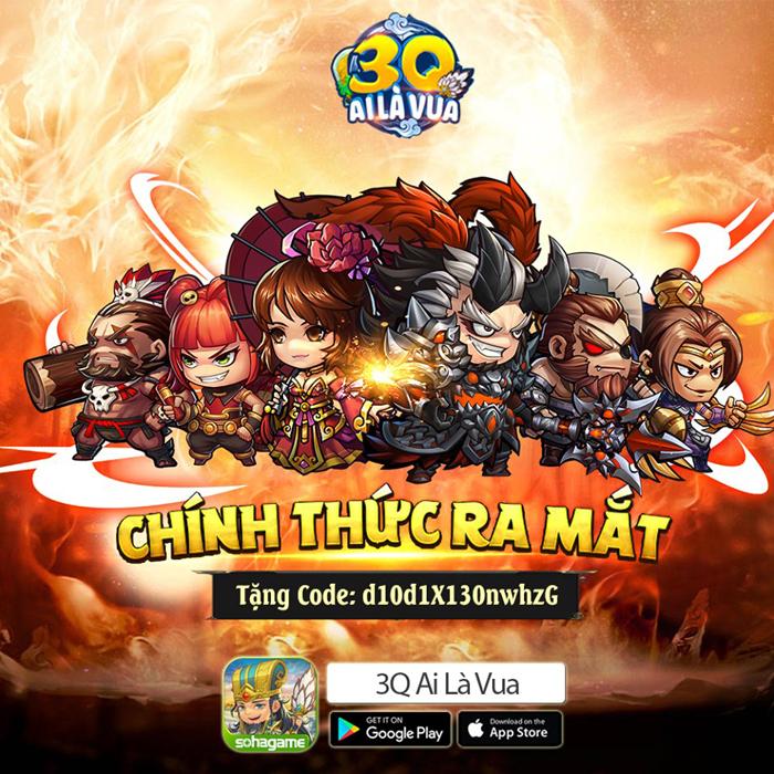 Tặng 777 giftcode game 3Q Ai Là Vua Mobile 0