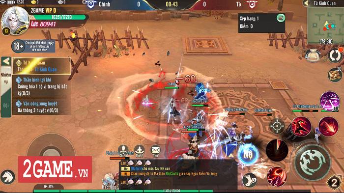 Ngạo Kiếm Vô Song Mobile mang lối chơi của Ỷ Thiên 3D Mobile, hình ảnh giống VLTK Mobile 7