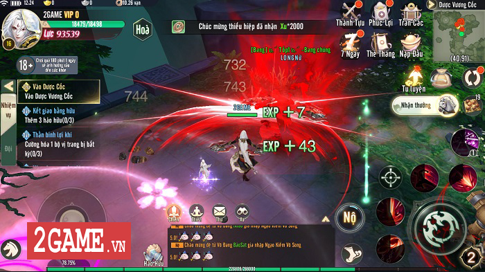 Ngạo Kiếm Vô Song Mobile mang lối chơi của Ỷ Thiên 3D Mobile, hình ảnh giống VLTK Mobile 2
