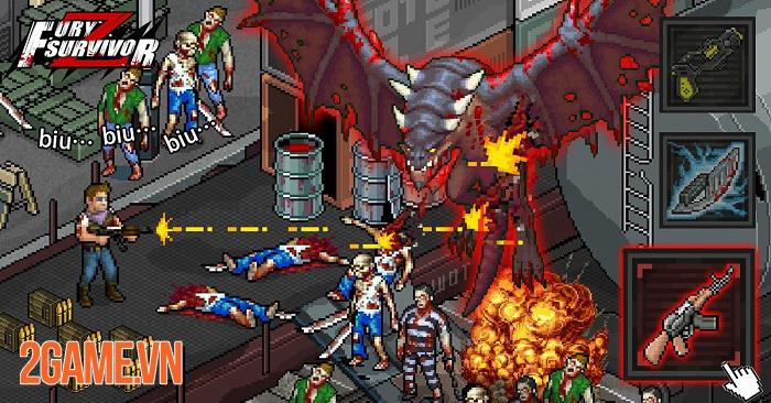 Fury Survivor: Pixel Z - Game bắn súng đề tài zombie với phong cách đồ họa pixel retro cổ điển 3