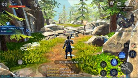 Chơi game nhập vai thế giới mở Rappelz The Rift Mobile thấy hoành tráng như PC