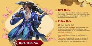 Bạch Thiên Vũ của Tân Chưởng Môn VNG giúp hoàn thiện đội hình Lý Thám Hoa