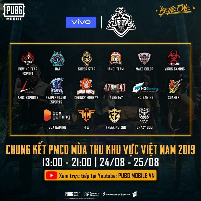 Những đội tuyển nổi bật nhất trong giải đấu PUBG Mobile - PMCO Mùa Thu 2019 0
