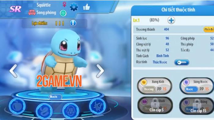 Bộ ba Pokemon khởi đầu trong game Poke Origin tưởng cùi song lại khỏe không tưởng 3
