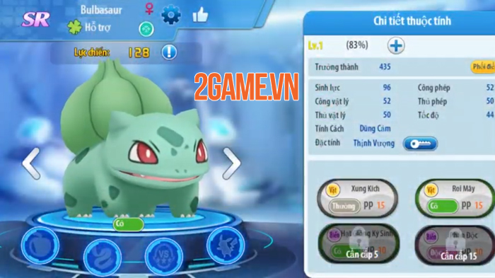Bộ ba Pokemon khởi đầu trong game Poke Origin tưởng cùi song lại khỏe không tưởng 4