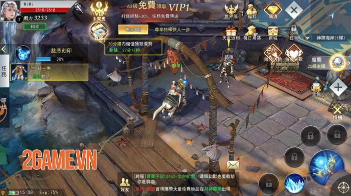 Thiên Sứ Mobile cho người chơi cày cấp thả phanh mà không sợ bị giới hạn lv 1