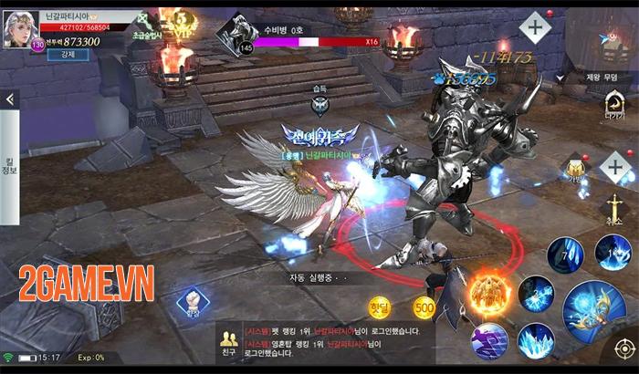 Thiên Sứ Mobile cho người chơi cày cấp thả phanh mà không sợ bị giới hạn lv 2