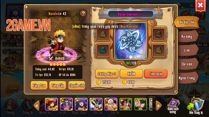 Nhẫn Giả Haki Mobile chính là tâm huyết của những người làm game Việt yêu thích Manga 3