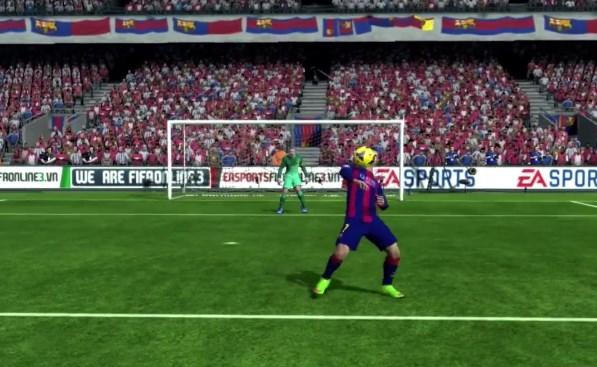 Hướng dẫn thực hiện Chest Flick bằng bàn phím trong FIFA Online 3