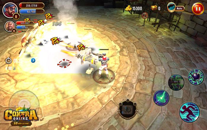 Contra Online: Một tay cầm súng, một tay dùng skill