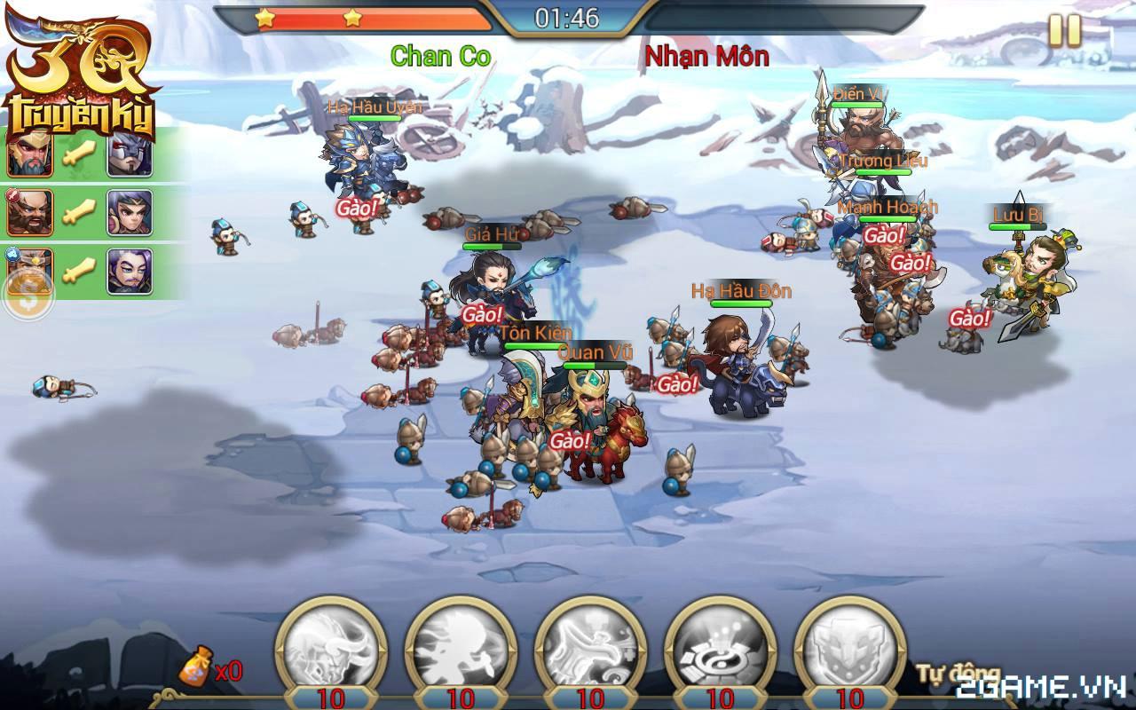 3Q Truyền Kỳ có thế mạnh nằm ở phần danh tướng và mô thức chiến đấu