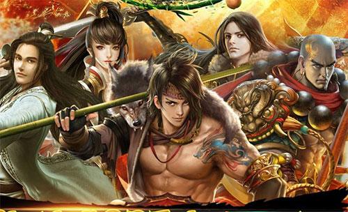 Chí Tôn đại chiến Thần Long trong Thiên Long Bát Bộ 3D