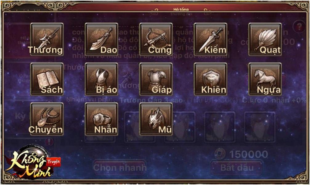 Hé lộ thông tin bản siêu cập nhật mới của Khổng Minh Truyện