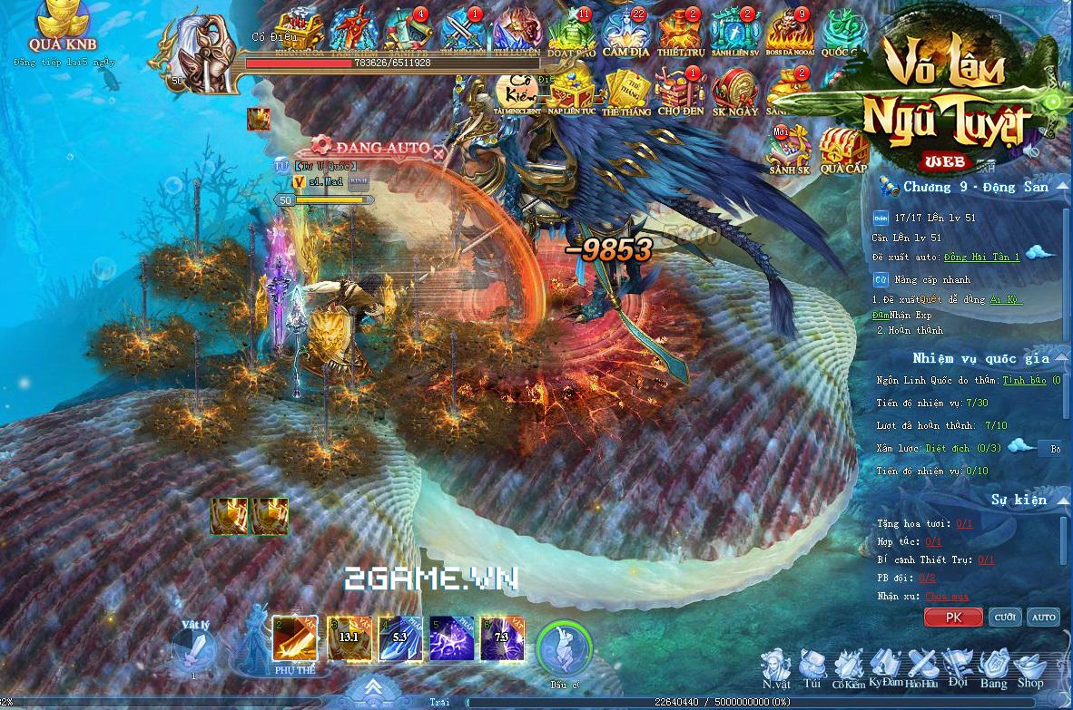 Võ Lâm Ngũ Tuyệt khoe mẽ đồ họa và gameplay
