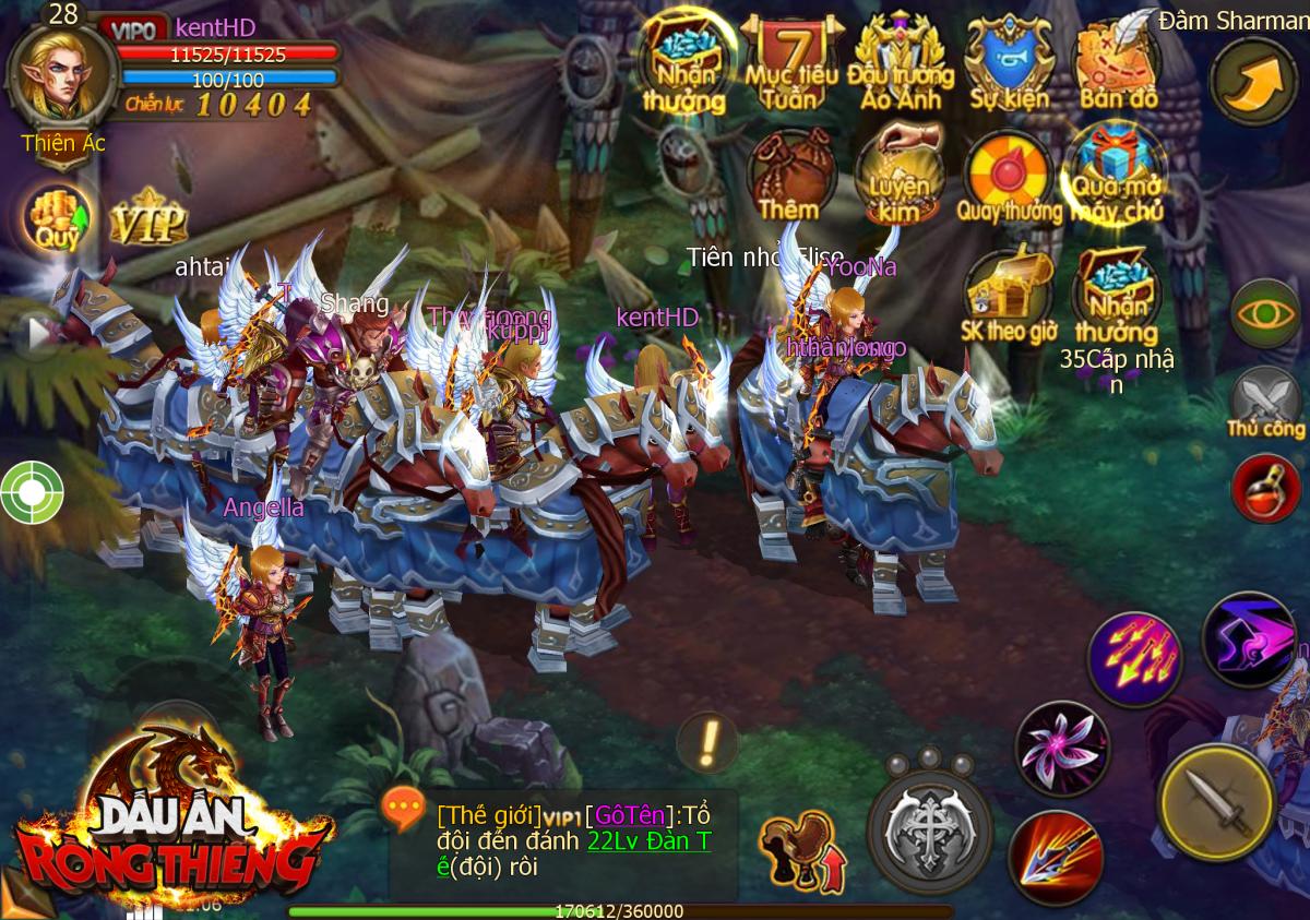 Dấu Ấn Rồng Thiêng Mobile ngày ra mắt: Đông, đẹp và đã tay!