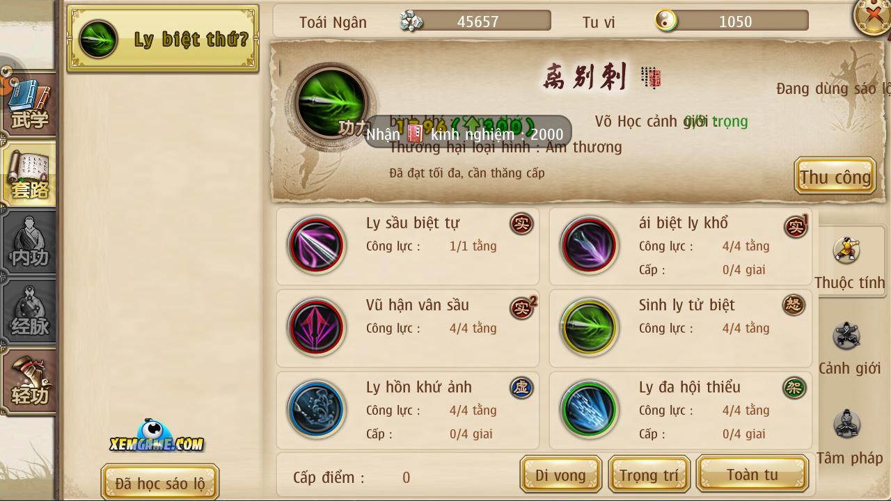 Cửu Âm Chân Kinh mobile | XEMGAME.COM